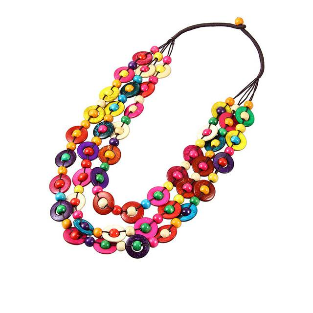 Collier en bois multicolore WoodooBling